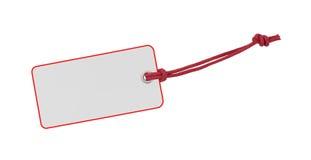 Etichetta di bianco e di rosso immagini stock