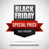 Etichetta di Black Friday Insegna eccellente di vendita di Black Friday Immagine Stock Libera da Diritti