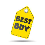 Etichetta di caduta di Best Buy Fotografia Stock