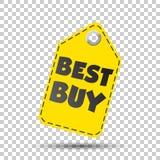 Etichetta di caduta di Best Buy Illustrazione di vettore Fotografia Stock