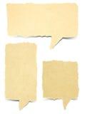 Etichetta di carta di conversazione della bolla Fotografie Stock