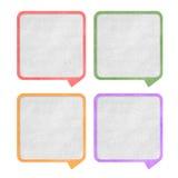 Etichetta di conversazione Immagini Stock