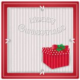 Etichetta di eco di Natale con il regalo Fotografia Stock Libera da Diritti
