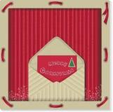 Etichetta di eco di Natale con la lettera Fotografie Stock