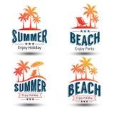 Etichetta di estate Fotografie Stock Libere da Diritti