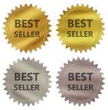 Etichetta di garanzia del best-seller royalty illustrazione gratis