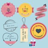 Etichetta di giorno di biglietti di S. Valentino Fotografie Stock Libere da Diritti