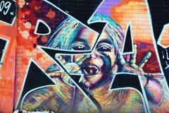 Etichetta di Montreal di arte della via Immagine Stock Libera da Diritti