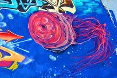 Etichetta di Montreal di arte della via Immagine Stock