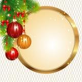 Etichetta di Natale Fotografia Stock