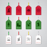 Etichetta di Natale Fotografie Stock Libere da Diritti