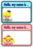 Etichetta di nome per i bambini Immagine Stock Libera da Diritti