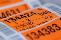 Etichetta di Packiging con il codice a barre Fotografie Stock Libere da Diritti