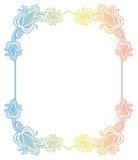 Etichetta di pendenza con i fiori decorativi Copi lo spazio Fotografia Stock
