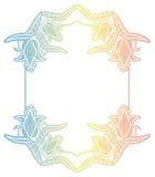 Etichetta di pendenza con i fiori decorativi Copi lo spazio Immagini Stock Libere da Diritti