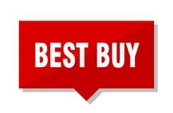 Etichetta di rosso di Best Buy Immagine Stock Libera da Diritti