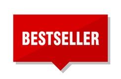 Etichetta di rosso del bestseller Fotografia Stock Libera da Diritti