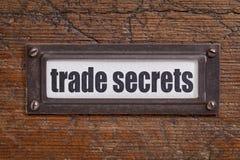 Etichetta di segreti commerciali fotografia stock libera da diritti