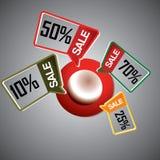 Etichetta di vendita Fotografie Stock Libere da Diritti