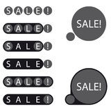 Etichetta di vendita degli autoadesivi Illustrazione di Stock
