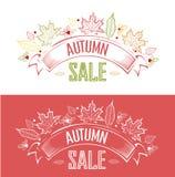 Etichetta di vendita di autunno Fotografia Stock Libera da Diritti