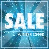 Etichetta di vendita di inverno Fotografia Stock