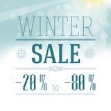 Etichetta di vendita di inverno Fotografia Stock Libera da Diritti