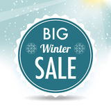 Etichetta di vendita di inverno Immagine Stock