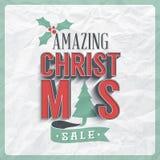 Etichetta di vendita di Natale Fotografia Stock