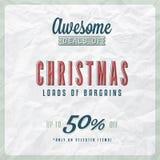 Etichetta di vendita di Natale Fotografia Stock Libera da Diritti