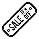Etichetta di vendita 30 per cento fuori dall'icona, stile semplice Fotografia Stock