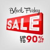 Etichetta di vendite di Black Friday Fotografia Stock
