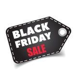 Etichetta di vendite di Black Friday Fotografie Stock Libere da Diritti