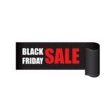 Etichetta di vendite di Black Friday Fotografie Stock