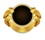 Etichetta di vettore e reale ed insegna del nastro dell'oro, Immagine Stock Libera da Diritti