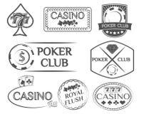 Etichetta e distintivi della mazza messi Illustrazione Royalty Illustrazione gratis