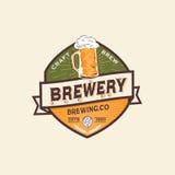 Etichetta e Logo Template della birra Fotografia Stock