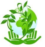 Etichetta ecologica Immagini Stock