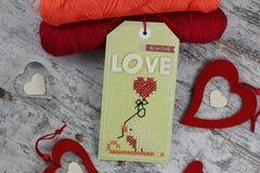 Etichetta fatta a mano Fotografia Stock