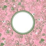 Etichetta floreale Fotografia Stock