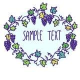 Etichetta floreale di scarabocchio Illustrazione di Stock