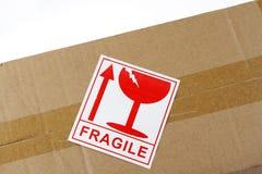 Etichetta fragile fotografie stock