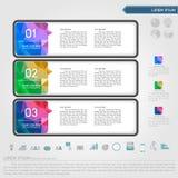 Etichetta infographic ed icona di affari illustrazione di stock