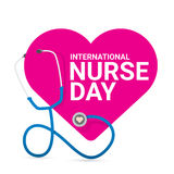 Etichetta internazionale di vettore di giorno dell'infermiere di vettore illustrazione di stock