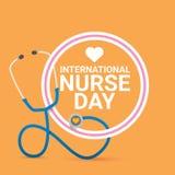 Etichetta internazionale di vettore di giorno dell'infermiere di vettore royalty illustrazione gratis