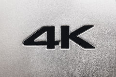 etichetta 4K Fotografia Stock Libera da Diritti