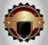 Etichetta lussuosa del mercato, emblema, autoadesivo Fotografia Stock