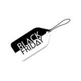 Etichetta monocromatica di vendite per Black Friday Isolato sull'illustrazione bianca di vettore illustrazione di stock