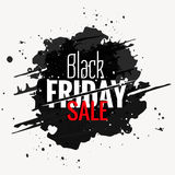 etichetta nera di stile di lerciume di vendita di venerdì Fotografia Stock