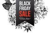 Etichetta nera di vendita di venerdì Immagini Stock
